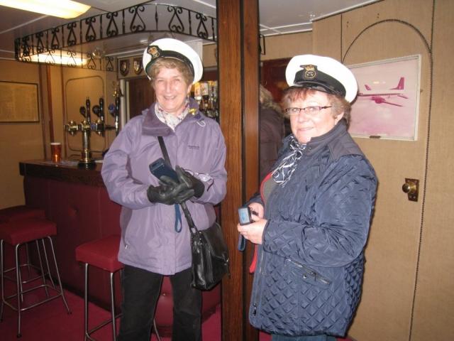 HMY Britannia Commodore Sue with Captain Lorna