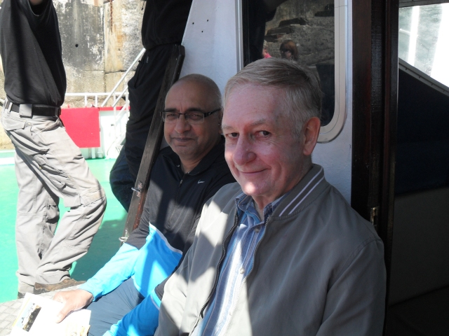 Clare Island Abhay & John on Ferry