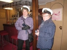 HMY Britannia Commodore Sue with Captain Lorna