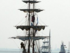 Tall ships leaving Liverpool